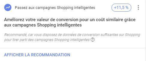 recommandations google ads campagnes automatiques