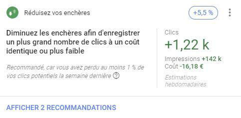 recommandations google ads enchères et budgets