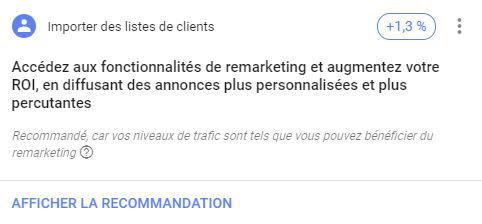 recommandation google ads mots cles et ciblage