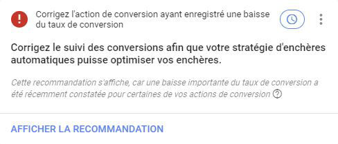 recommandations google ads réparations